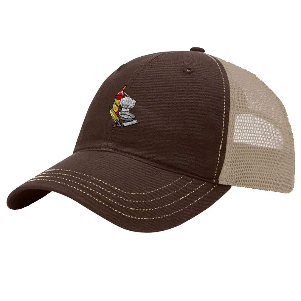 Custom Trucker Hat Richardson Chef Set Utensil B Embroidery Business Name Cotton