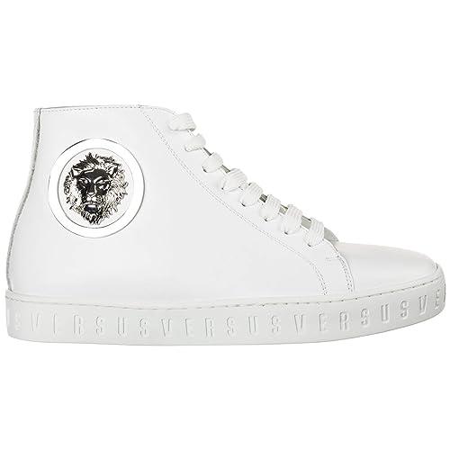 Versus Versace Sneakers Alte Lion Head Donna Bianco: Amazon ...
