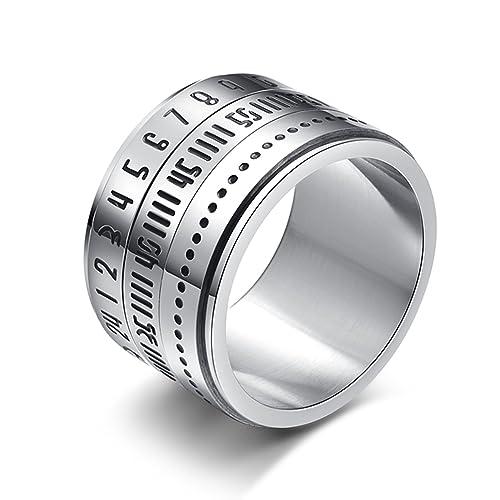 LaLopez hombres Europa y el tiempo de titanio de acero de Estados Unidos Gira anillo números