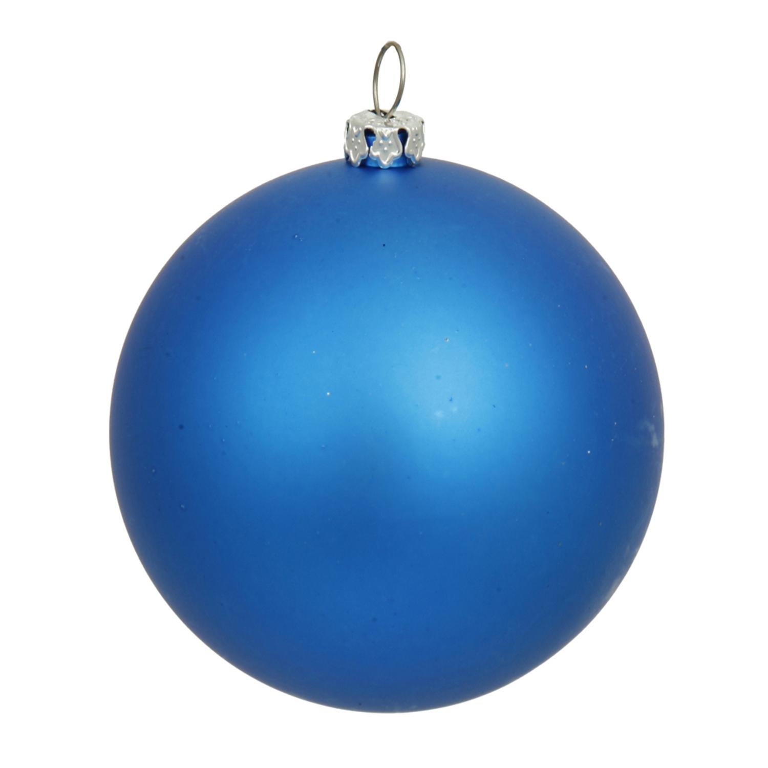 By Vickerman Matte Blue UV Resistant Commercial Drilled Shatterproof Christmas Ball Ornament 15.75''(400mm)