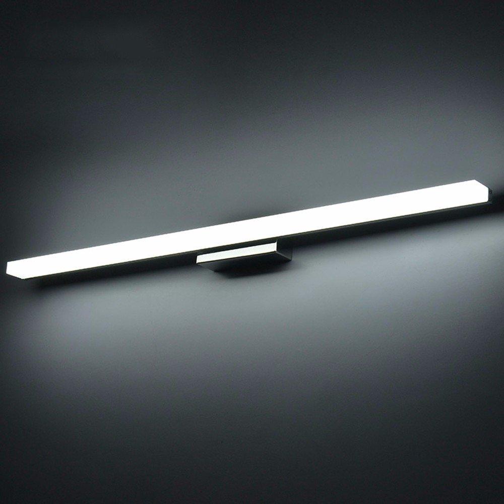 BoYX Acrilico Specchio Luce 40Cm ~ 120Cm Moderni Cosmetici Acrilico Applique Bagno Illuminazione Impermeabile 85 ~ 265V, Bianco Freddo 80Cm [Classe di efficienza energetica A+++] BoYX Light