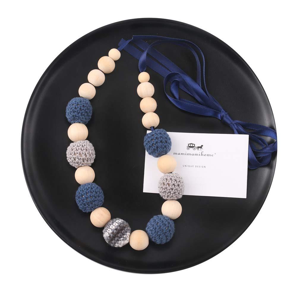 Mamimami Home Encantos de la enfermera Perlas masticables Dientes de madera Collar de Dentici/ón por Mam/á Juguetes para la dentici/ón del beb/é