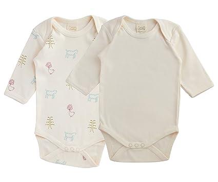 d1eede772 Amazon.com  Nature Baby Organic Cotton Long-Sleeved Bodysuit 2-Pack ...