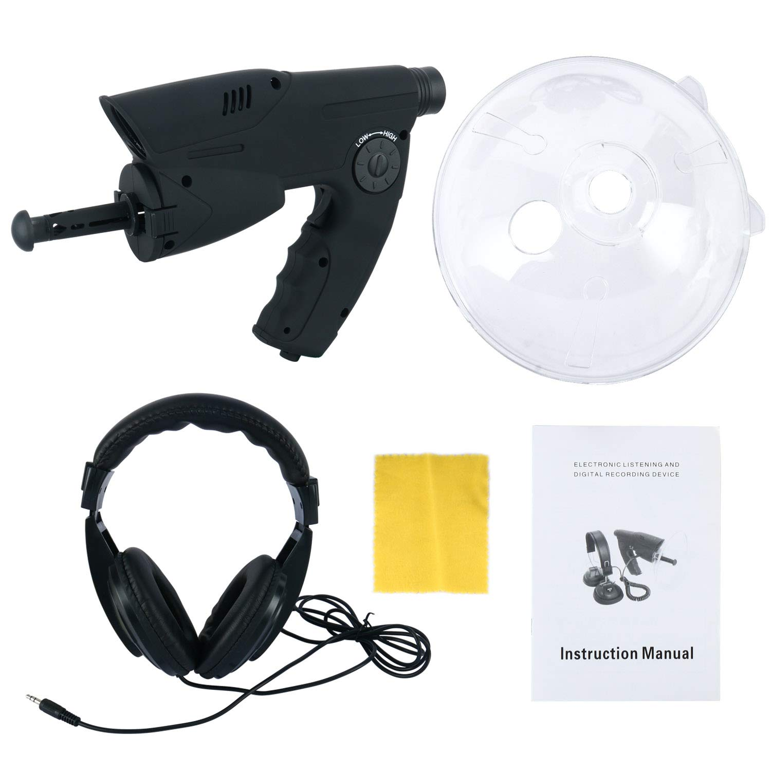YaeTek Bird Recording Observing Listening Device Extreme Sound Amplifier Ear Bionic UpTo 300ft Long Range