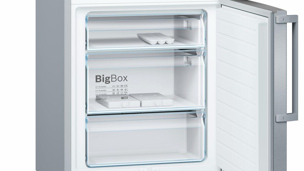 Bosch Kühlschrank Silber : Bosch kge bi serie türen edelstahl mit anti fingerprint kühl