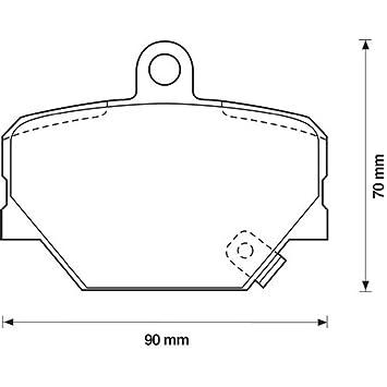 Vorderachse 4 Bremsbelagsatz Scheibenbremse METELLI 22-0341-0 SMART