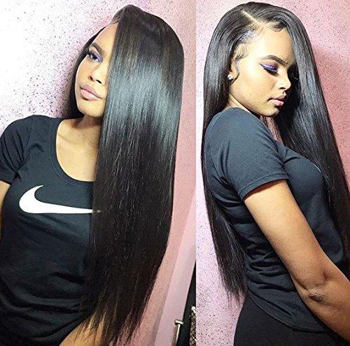 PeiYu Brazilian Virgin Hair Straight 3 Bundles Deal 7A Grade Unprocessed Remy Human Hair Extensions Mink Brazilian Straight Hair Weave Bundles Natural Black Color For Black Woman