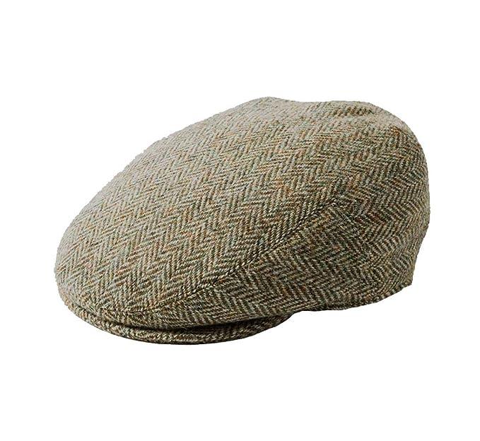 91525e525f8 Failsworth Stornoway Genuine Harris Tweed Flat Cap Beige Herringbone 3397  (57cm - 7 UK -
