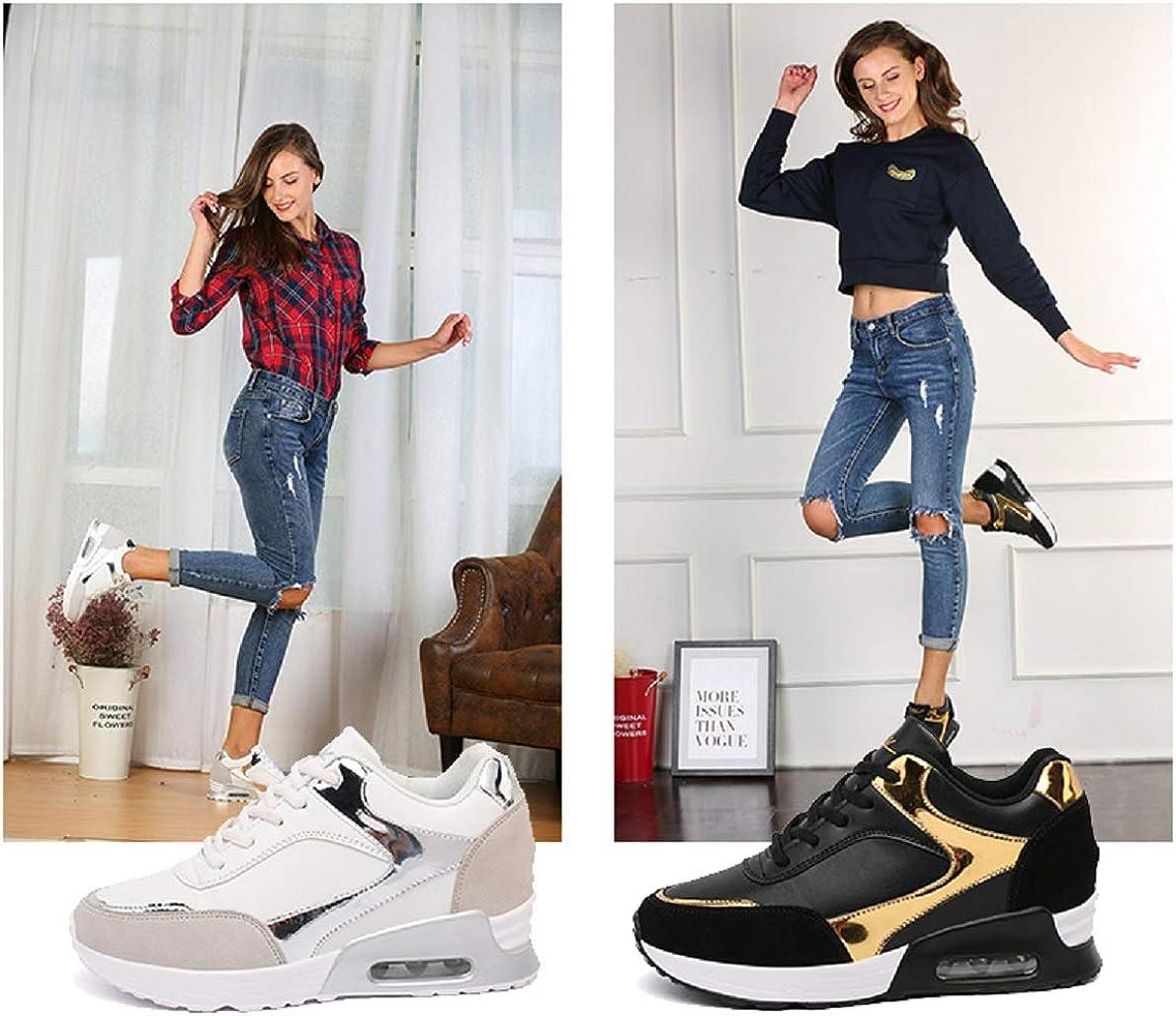 AONEGOLD/® Femme Basket a Talon Compens/ées Chaussures de Course Sport Fitness Sneakers Confortable Plateforme