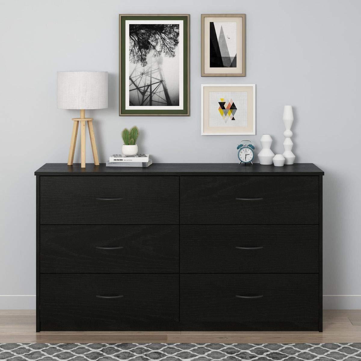 Mainstays 6 Drawer Dresser, (6-Drawer, Nightfall Oak)