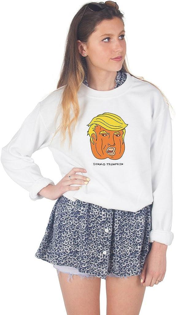 Donald Trumpkin Sweater Top Jumper Sweatshirt Trump Halloween Funny Pumpkin USA