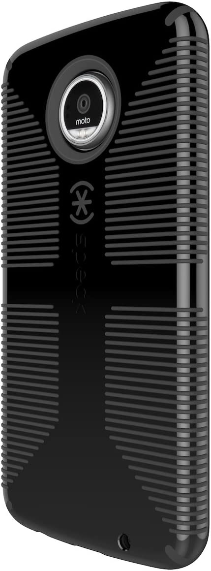 Speck Products Candyshell Grip Cell Phone Case for Moto Z Play, Black/Black, 85756-1050