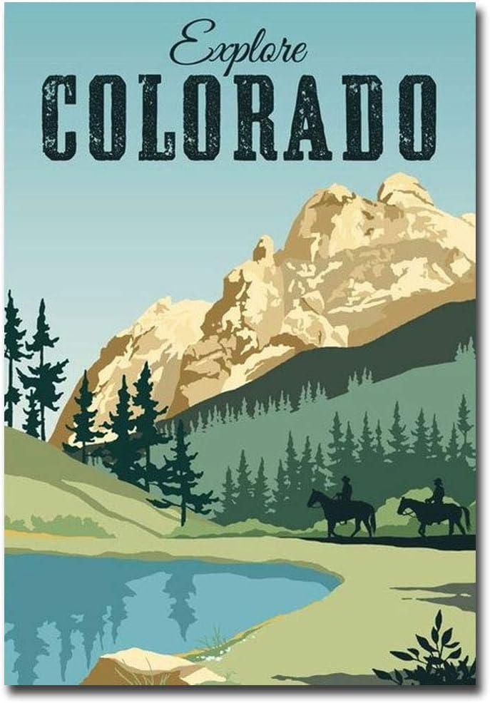 "Explore Colorado Vintage Style Travel Vintage Art Refrigerator Magnet Size 2.5"" x 3.5"""