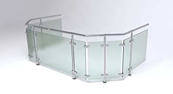Edelstahl Glas Balkongelander Bausatz Topmontage Amazon De Baumarkt