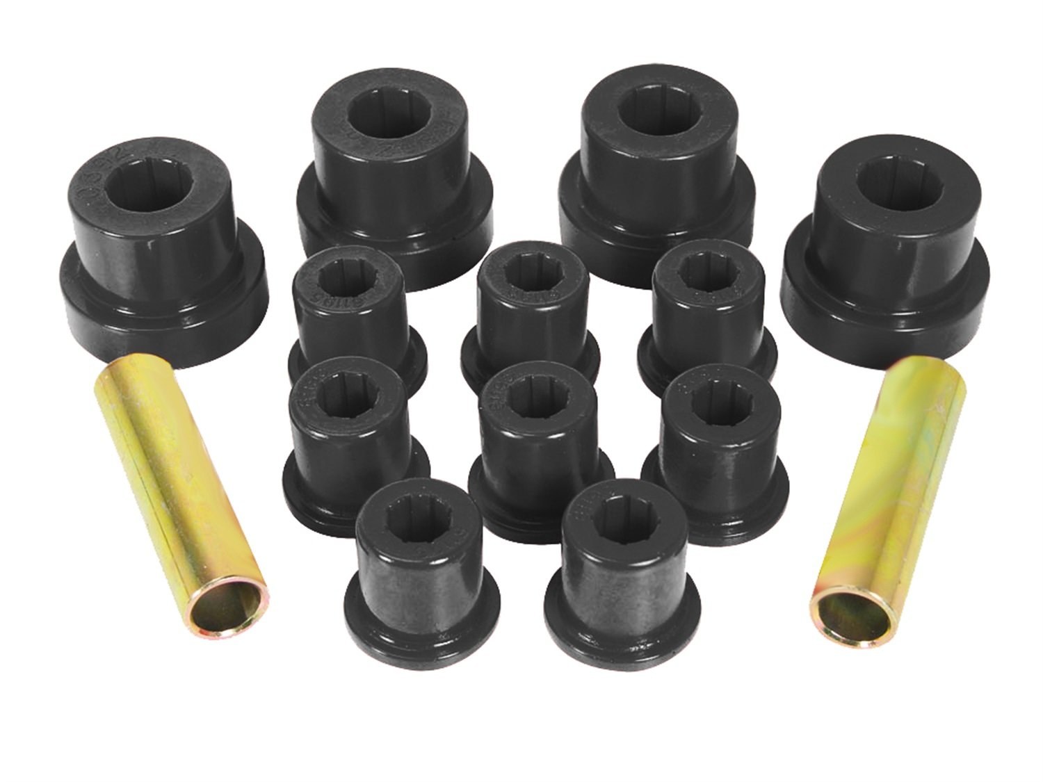 Prothane 1-1002-BL Black Front Spring Eye and Shackle Bushing Kit for Jeep CJ5 and CJ7 by Prothane
