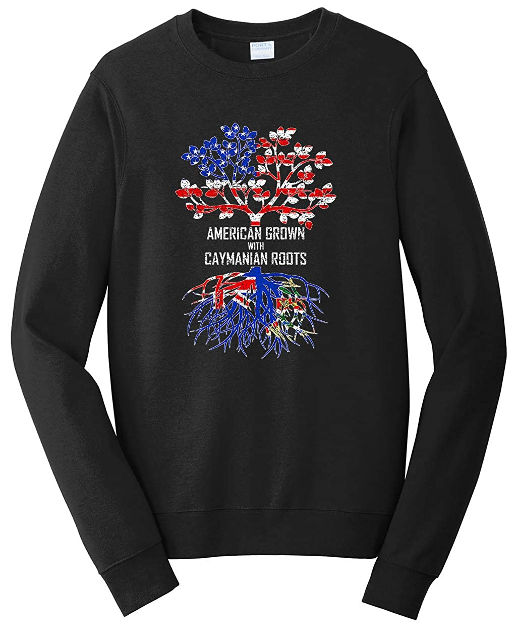Tenacitee Unisex American Grown with Caymanian Roots Sweatshirt