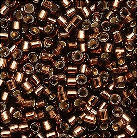 Delica Bead DBS1203 Miyuki Delica Beads 150 Silver Lined Pink Mist 5 grams  diy beads