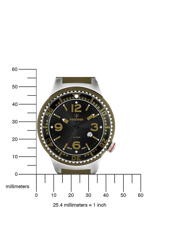 Kienzle POSEIDON L Slim K2093013033-00399 - Reloj analógico de cuarzo para hombre, correa de silicona color verde: Amazon.es: Relojes