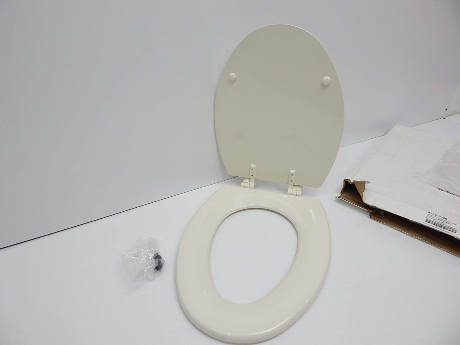 Sensational Kohler K 4712 T 47 Triko Elongated Molded Wood Toilet Seat With Color Matched Hinges Almond Caraccident5 Cool Chair Designs And Ideas Caraccident5Info