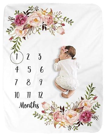 Amazon.com: Manta Milestone para bebé, manta de bebé para ...