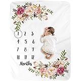 Milestone Blanket/Baby Milestone Blanket Girl Boy/Large Baby Blankets for Girls and Boys Newborn Photography Premium Fleece B
