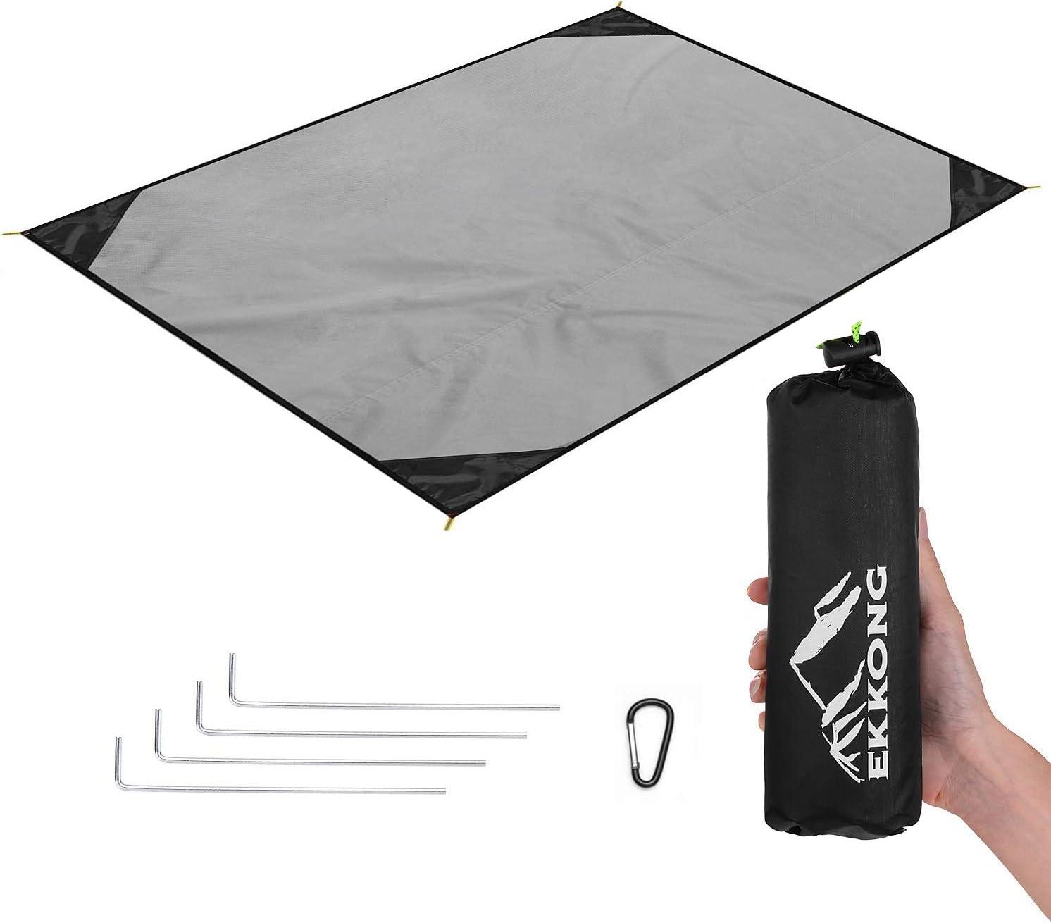 EKKONG Manta de Picnic Manta de Bolsillo Ultraligera Impermeable pequeña, Manta de Playa portátil, Manta de Camping, Almohadilla para Actividades al Aire Libre (200 * 200cm)