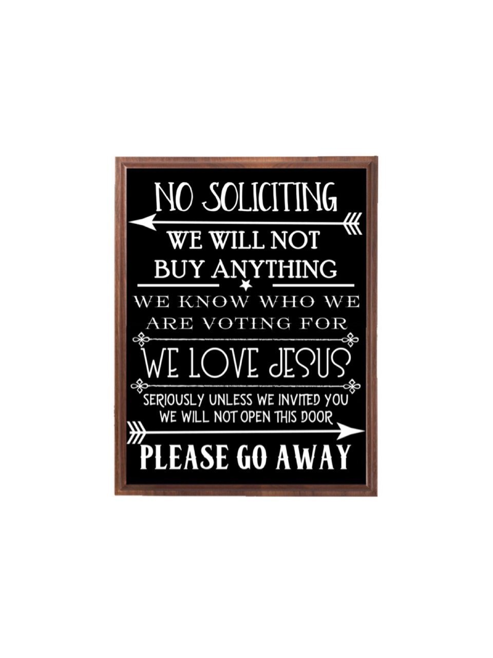 No Soliciting Wood Sign, Outdoor Sign, Front Door Sign