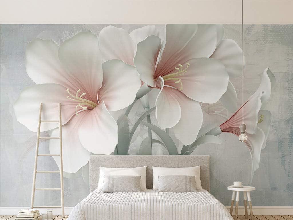 Flor flor Papel tapiz fotográfico personalizado Salón Dormitorio Mural Moda moderna TV Pared Pintura decorativa papel tapiz 3d (W)140x(H)100cm
