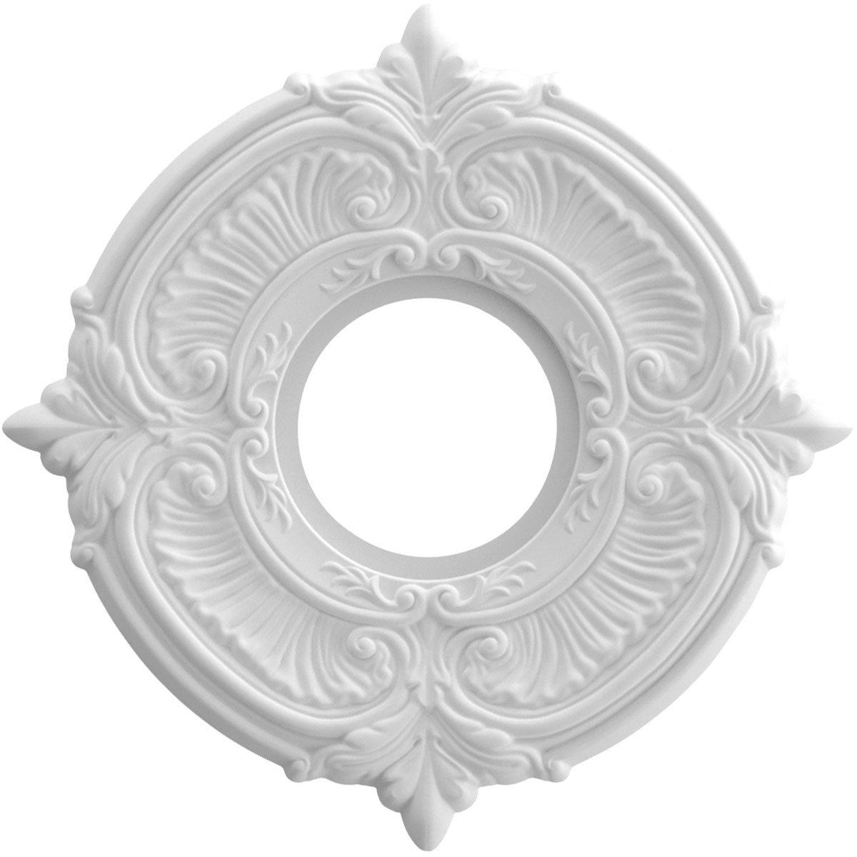 Ekena Millwork CMP10AT Attica Medallion Thermoformed Pvc Ceiling, 10'' OD x 3 1/2'' ID x 3/4'' P, White