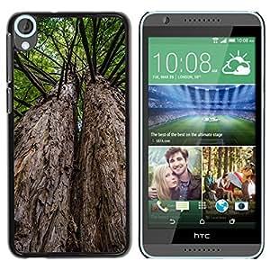 Etui Housse Coque de Protection Cover Rigide pour // M00151929 Árbol del Paisaje Forestal árboles // HTC Desire 820