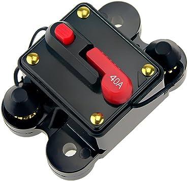 12V//24V 15 20 30 40AMP In Line RV Car Circuit Breaker Manual Reset Fuse Holder