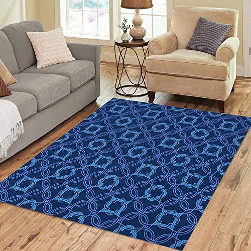 (Pinbeam Area Rug Portuguese Tiles Quatrefoil Pattern Tangled Modern Based Home Decor Floor Rug 5' x 7' Carpet)