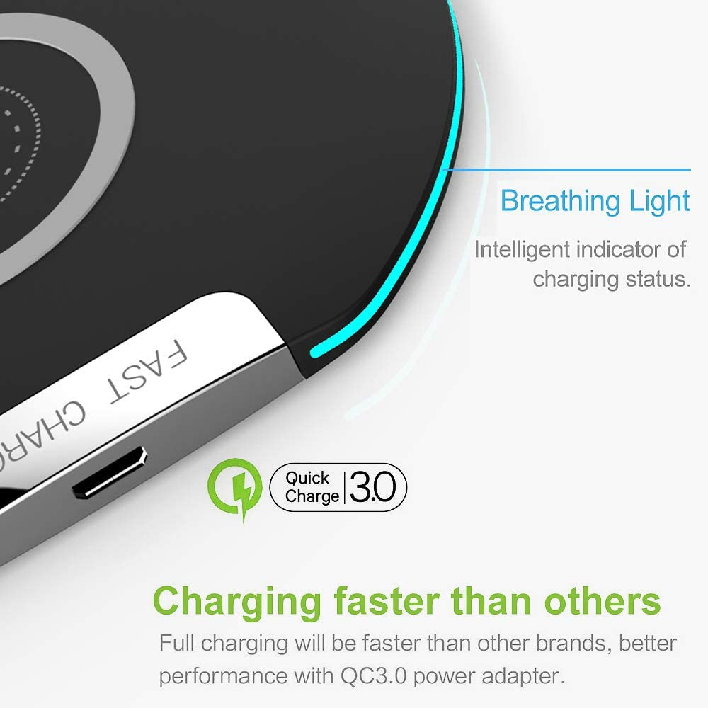 Wireless Charger SIHIVIVE 10W Fast Qi Wireless Charging Pad iPhone 11 Pro//iPhone 11 Pro Max//iPhone Xs Max//Xs//XR//X//8//8P 10W Compatible Galaxy S10//S9//Note 9 Wireless Charger Compatible iPhone 11