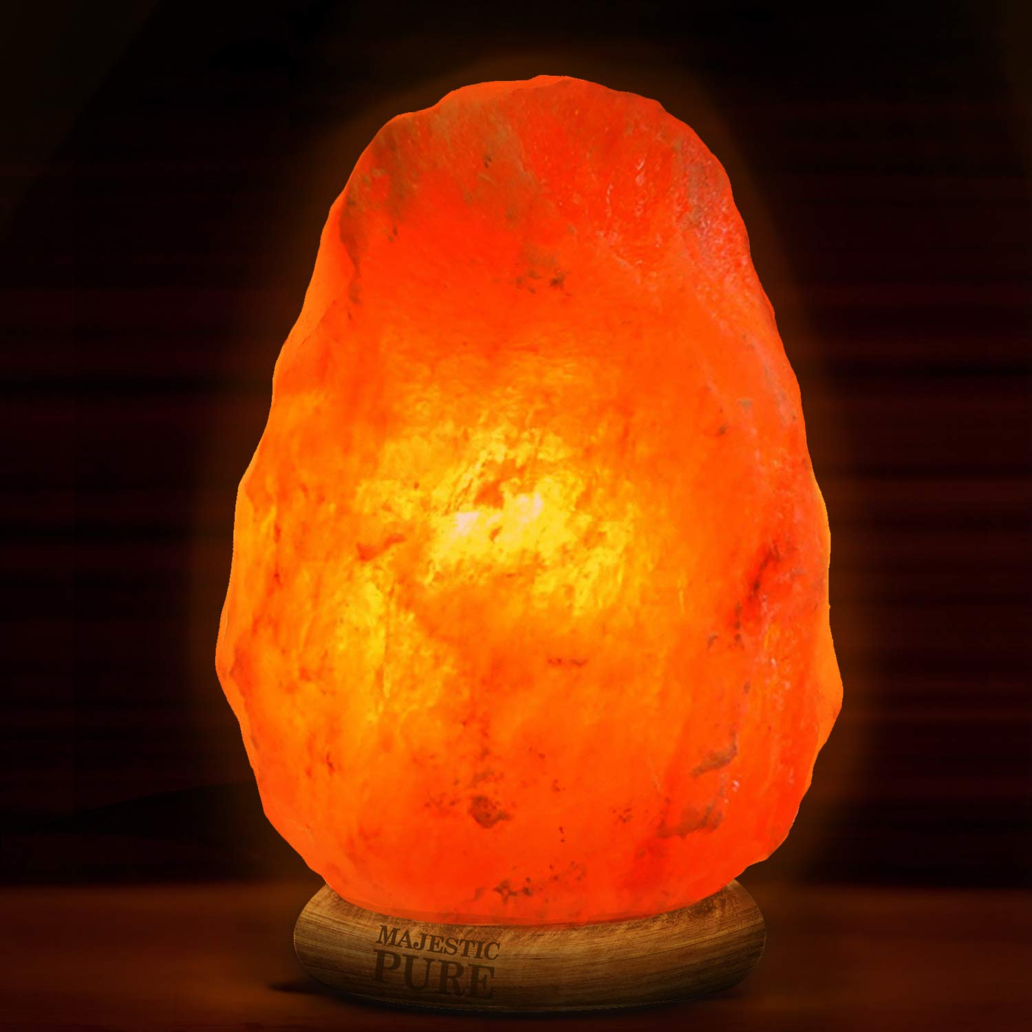 Majestic Pure Himalayan Salt Lamp - Natural Pink Salt Rock Lamp, Hand Carved, Wooden Base, Brightness Dimmer, 3 Bulbs, UL-Listed Cord and Gift Box, 8-11 lbs by Majestic Pure (Image #6)