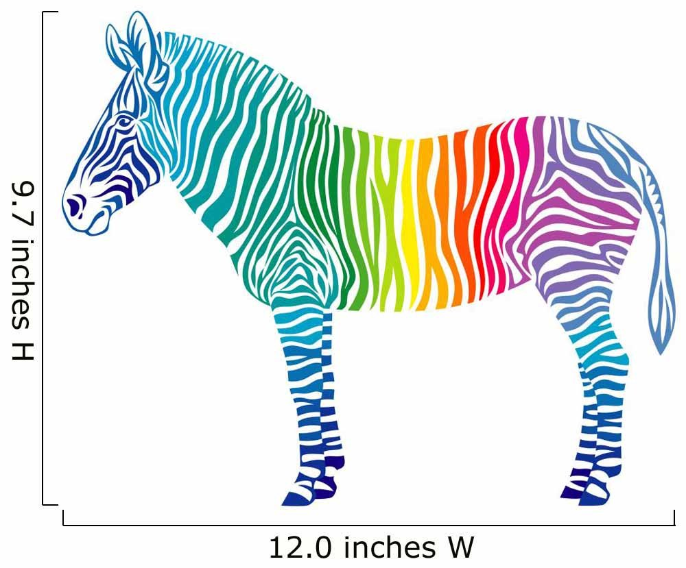Amazon.com: Rainbow Zebra Wall Decal by Wallmonkeys Peel and Stick ...