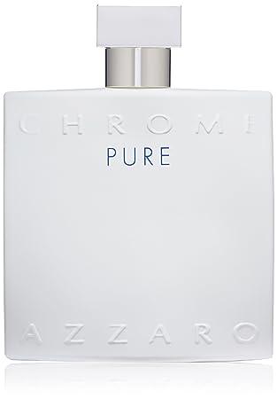 Amazoncom Azzaro Chrome Pure Eau De Toilette Spray 34 Fl Oz