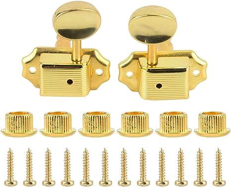 Clavijas de afinación de guitarra, 3L3R Golden Guitar Machine Head ...