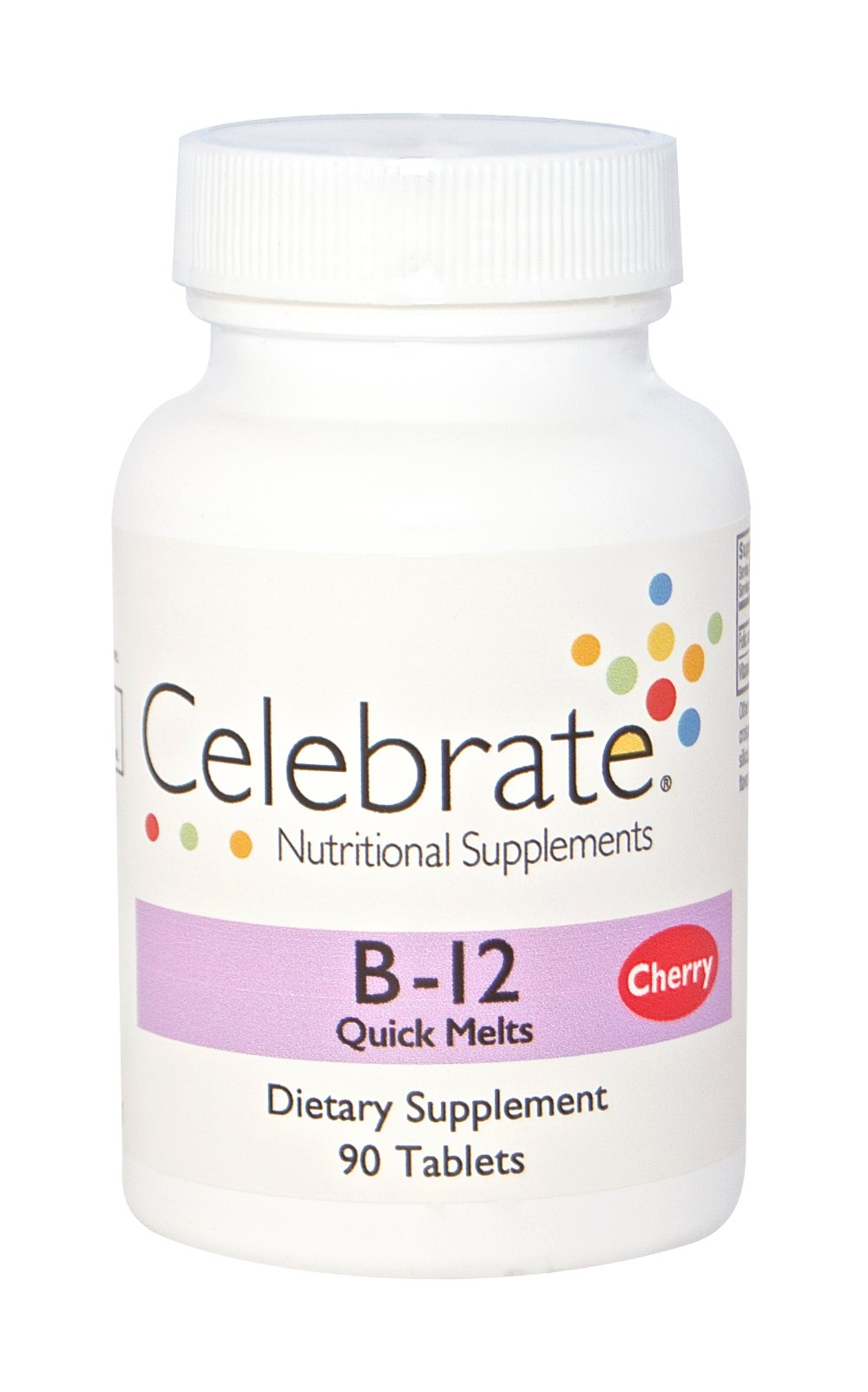 Celebrate Vitamins B12 Sublingual - Cherry - 90 Count