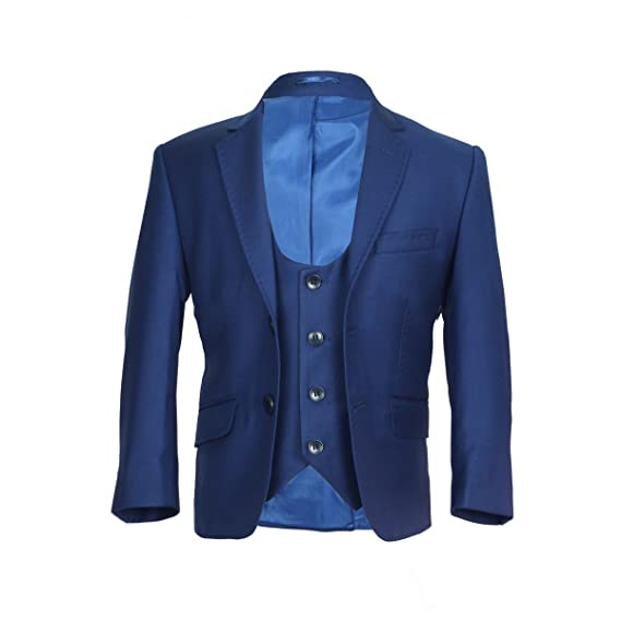 SIRRI Night Blue Slim Fit Boys Suit,3 PC Prom Suit, Wedding ...