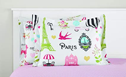 f0ee3ccc0fa39 Image Unavailable. Image not available for. Color  Mainstays Kids Paris Bed  in a Bag Bedding ...