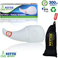 NETTIE - Netipot(300ml, Free carry pouch, food grade material) - 1's Pack