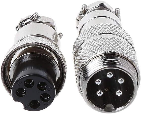 BELTI Gx16 Butting Aviation Conector Macho Hembra 2//3//4//5//6//7//8 Pin