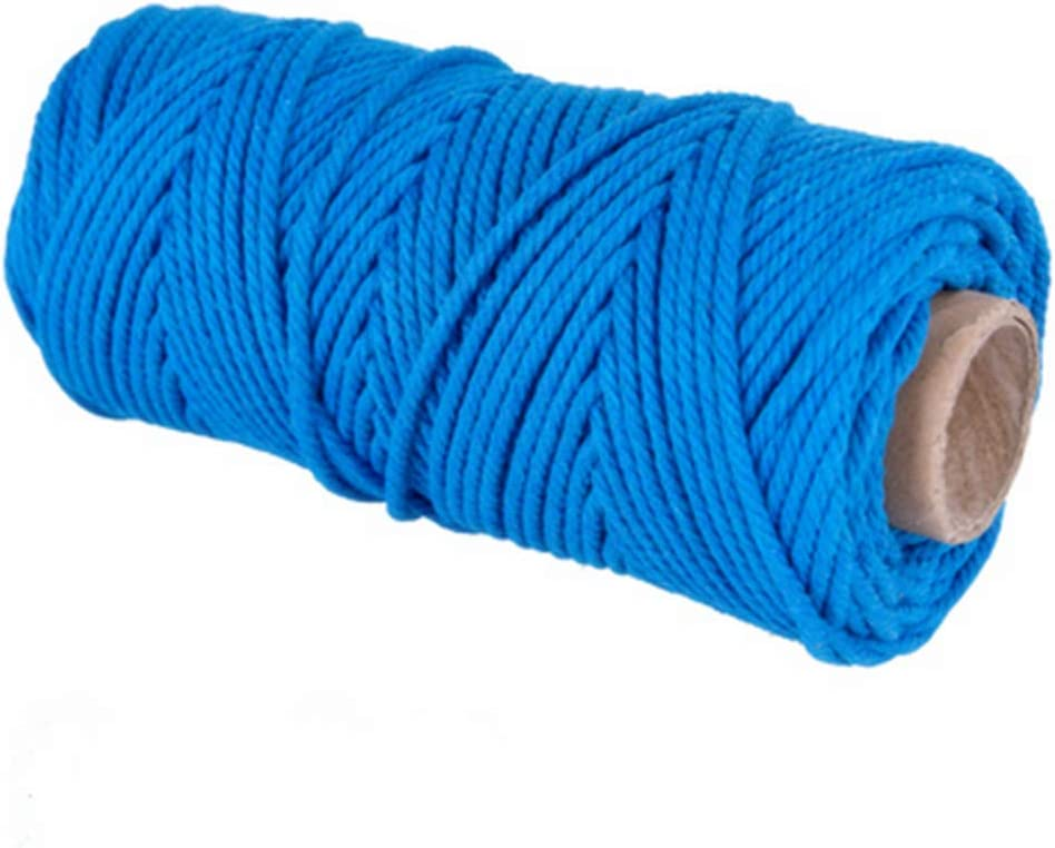 1//6 Colorful 3 Strand Macrame Rope XKDOUS Blue Natural Twisted Cotton Rope 4mm Knitting /& Crocheting Plant Hangers Colored Navy Macrame Cord Blue Cotton Cord for Macrame Wall Hanging Crafts