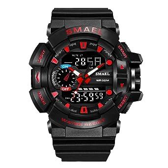 Reloj Militar de Cuarzo para Hombre Reloj Deportivo Digital Negro para Mujer: Amazon.es: Relojes