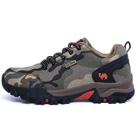 Los Amantes De Senderismo Zapatos De Camuflaje Zapatillas De Hombre No Slip Turismo Camping Zapatos Academia