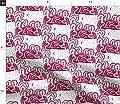Spoonflower Toile Fabric - Fairy Tale Story Landscape Woodcut Folk Art Moon Print on Fabric Print on Fabric by The Yard - by The Yard for Sewing Crafting Apparel Fashion Home Decor