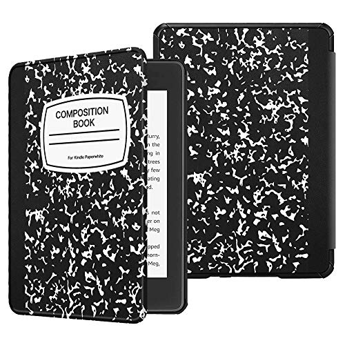Fintie Slimshell Case for All-New Kindle Paperwhite (10th Generation, 2018 Release) - Premium Lightweight PU Leather Cover with Auto Sleep/Wake for Amazon Kindle Paperwhite E-Reader, Composition B