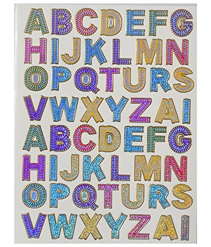 Jazzstick A to Z Colorful Alphabet letters Decorative Sticker 10 sheets for scrapbook and decorative (VST08A06)