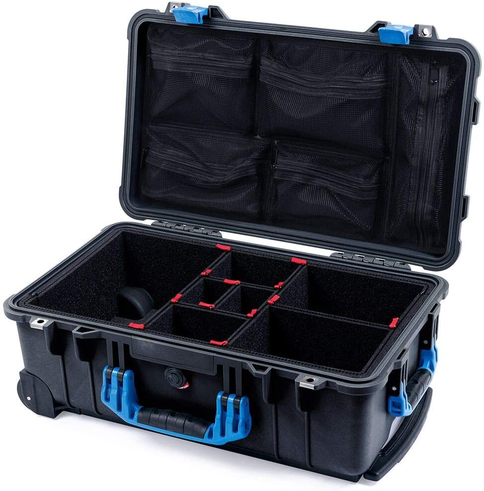 Black & Blue 1510 Case with TrekPak dividers & mesh lid Organizer.