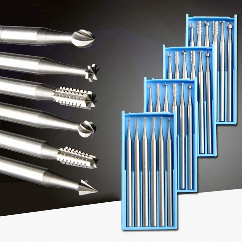 Antiquit/äten Messerkopf scharf Luyao 2,35mm Schaft Wolframstahl-Schnitzmesserset Holz Micro-Carving-Werkzeug hochverschlei/ßfest Perlen geeignet f/ür weiche Metalle
